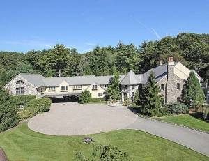 Rosie O'Donnell's home in Saddle River, New Jersey. Photo credit to Kathleen Lynn at NorthJersey.com.