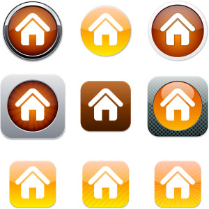 Home Set of apps icons. Vector illustration.