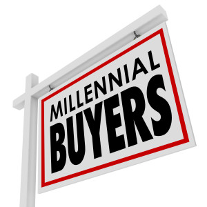 Millennial Buyers Words Home for Sale House Real Estate Sign